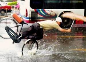 Cycling in rain 1