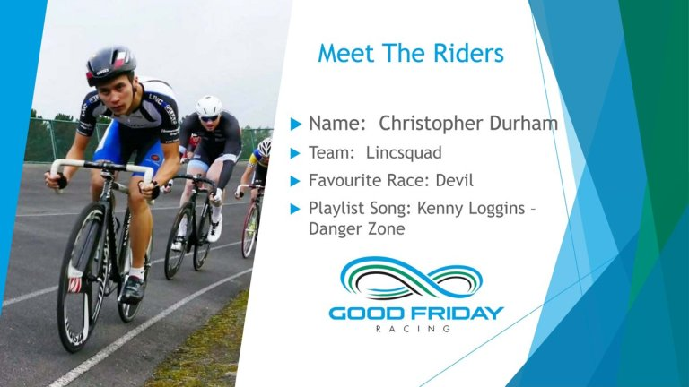 Chris Durham rider profile Good Friday track 2018