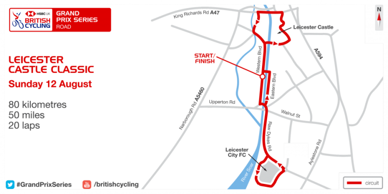 Leicester Castle Classic circuit map 2018
