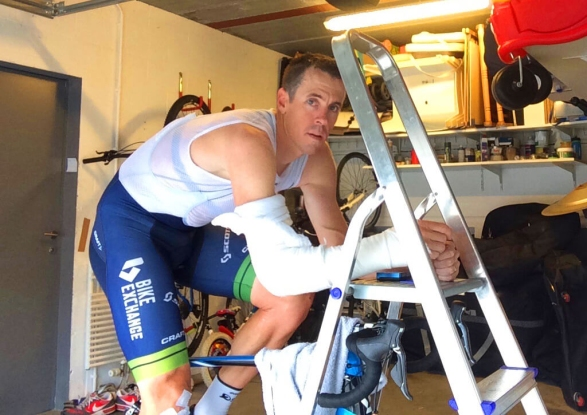 Mat Hayman Zwift injured